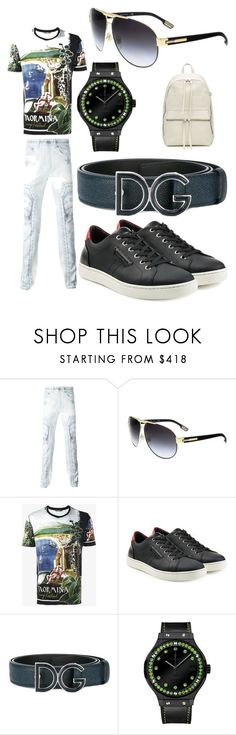"""Patrick"" by mrpwillis ❤ liked on Polyvore featuring Givenchy, Dolce&Gabbana, Hublot, Rick Owens, men's fashion and menswear"