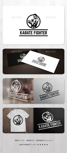Karate Fighter Logo — Vector EPS #master #punch • Available here → https://graphicriver.net/item/karate-fighter-logo/13666766?ref=pxcr