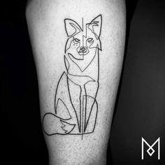 Татуировки из непрерывной линии в стиле line art от берлинского тату-мастера Mo Ganji