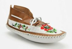 beautifully beaded UO moccasins