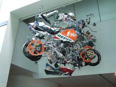 Real life exploded view of Repsol Honda GP bike