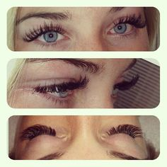 Eye lash extensions can't wait to get em!!!