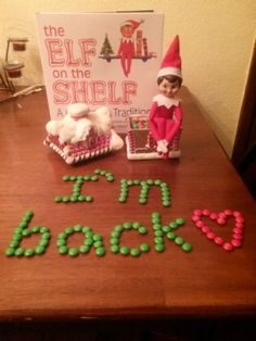 "Elf on the Shelf ideas  ""Welcome Back!""..."