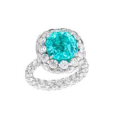 Boghossian Les Merveilles Paraiba anillo de turmalina con diamantes
