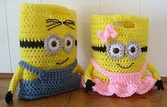 Ravelry: Minion Purses Or Treat Bags pattern by Knotty Hooker Designs
