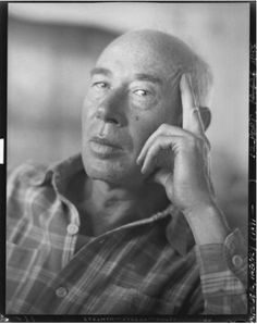 """Henry Miller - Uncredited and Undated Photograph  """"The world dies over and over again, but the skeleton always gets up and walks."""""""