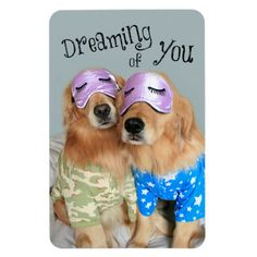Golden Retriever Dreaming of You Flexible Magnets by #AugieDoggyStore