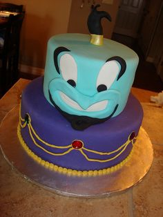 Aladdin cake! Genie!