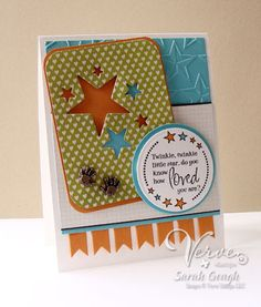 "Card by Sarah Gough using Verve Stamps. #vervestamps . Use up all those extra 3""x4"" Project Life cards!!!"