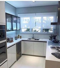 30 The Best Modern Kitchen Condo Design And Decor Ideas unit decor Minimalist 30 The Best Modern Kitchen Condo Design And Decor Ideas White Kitchen Decor, Home Decor Kitchen, Kitchen Interior, Tv In Kitchen, Coastal Interior, Eclectic Kitchen, Diy Interior, Interior Design, Rustic Kitchen