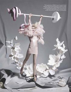 Fashion and Action: Paper Plates - Pastel Fashion & Papercraft in British Vogue
