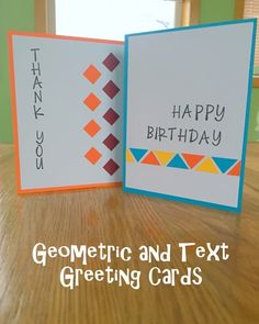 Greeting Card Series v2: Geometric and Text Design