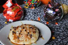 Candy Bar Inspired Pancakes:  http://sweetstacks.com/candy-bar-inspired-pancakes/