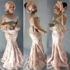 ff5bf8ee13e0 Strut the Event Hall in These Gorgeous Aso-Ebi Styles - Wedding Digest  Naija African. African WearAfrican ...
