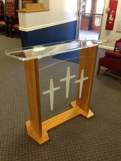 ChurchMart® | Church Furniture | Church Chairs - Disciple Podium, $995.00 (http://www.churchmart.com/church-pulpits/acrylic-pulpits/disciple-podium/)