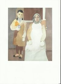 Artist as a boy and his Mother, Arshile Gorky. This was painted over ten years.