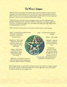 Book of Shadows Spell Pages ** Planting a Witch& Garden ** Wicca Witchcraft BOS Witchy Garden, Page And Plant, Hedge Witch, Witch Spell, Wicca Witchcraft, Practical Magic, Kitchen Witch, Book Of Shadows, Spelling