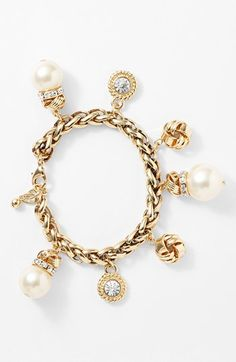 WHITE Nordstrom Faux Pearl Charm Bracelet available at #Nordstrom