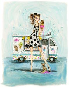 Summer Fun: Sound of the ice cream truck rolling through your neighborhood! #SummerFun