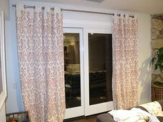 IKEA curtains turned awesome Ikat with stencil