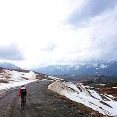 #tbt - the first time I met my partner - @peteapp. The first time I rode up @alpedhuezfrance  Probably the best day I have ever spent on a bike.  @peteapp took this shot. I think we had climbed another 400m or 500m above the ski village.  #sako7socks | #pocsports | #alpdhuez by sean_sako