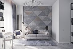 Maria Kukoba on Behance Interior Walls, Elegant Woman, Beautiful Interiors, House, Furniture, Home Decor, Behance, Room, Living Room