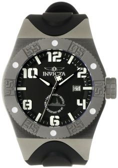 Men's Wrist Watches - Invicta Mens 0873 Force Collection Black Polyurethane Watch * Learn more by visiting the image link. (This is an Amazon affiliate link)