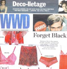 Stella Hipster in Red.. From the Affinitas Fall/Winter collection, as seen in WWD Intimates. (This lovely number is just one of the beautiful pieces we have!)
