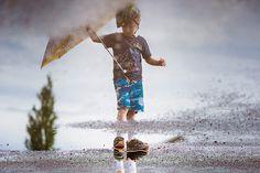 Nelson Notes, puddle, rain, reflection, lifestyle