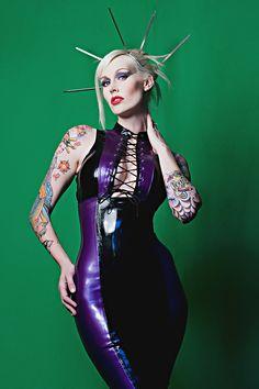 Sabina Kelley | violet latex