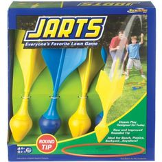 Ideal Jarts Dart Target Lawn Game -  Jarts is an aerodynamic twist to the classic game of horseshoesView larger Includes (4) colorful darts and (2) target ringsView larger Jarts Dart Target Lawn Game The POOF-Slinky 0X0780BL Ideal Jarts Dart Target Lawn Game is a safe and fun way to entertain the entire family and get them out of... - http://ehowsuperstore.com/bestbrandsales/toys-games/ideal-jarts-dart-target-lawn-game