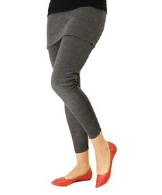 This Dark Gray Skirted Leggings - Plus Too by Magid is perfect! #zulilyfinds