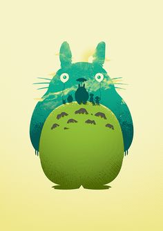 Totoro's Day Out - Created by David Goh For sale at the artist's RedBubble Shop.