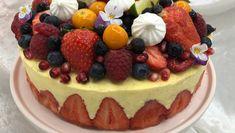Festkake med jordbær og lime Cheesecake, Lime, Sweets, Cakes, Desserts, Food, Tailgate Desserts, Limes, Deserts