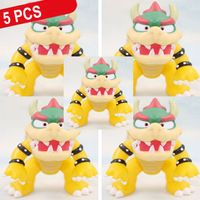 """5 Pcs/Lot New Super Mario Bros Brother Koopa Bowser PVC Action Figure Model Toy Cartoon Collection Approx 10cm/4"""""""