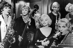 Some Like it Hot.  1959.  Jack Lemmon, Tony Curtis and Marilyn Monroe.  Absolutely hilarious.
