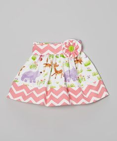 Look what I found on #zulily! Pink & White Woodland Sash Skirt - Infant, Toddler & Girls by Heavenly Things for Angels on Earth #zulilyfinds