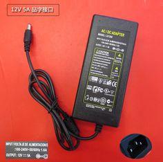 NIUKETAT LX1205 12V5A 12 V 5A LED de alimentación adaptador de la Energía de luz LED Transformador del Adaptador de alimentación para Imax 5050 3528 tira LLEVADA 5A real