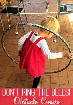Your children will love this fabulous idea for a festive obstacle course and listening game - just be sure not to ring those bells!