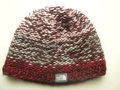 The North Face Womens Burgundy Red Melange Knit Wool Winter Beanie Hat Warm #TheNorthFace #Beanie