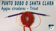 Punto bobo, musgo o Santa Clara en agujas circulares - Tricot