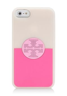 Tory Burch's bright Viva iPhone case makes your device pop and easy to spot.