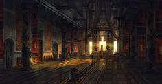 Of Orcs and Men Throne room Camille Bachmann Fantasy art landscapes Throne room Fantasy concept art