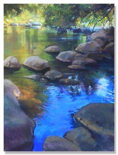 Image of Bruce A. Chalk Pastel Art, Chalk Pastels, Pastel Paintings, Pastel Landscape, Landscape Paintings, Landscape Rocks, Forest Painting, Artist Painting, Painting Lessons