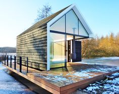 This tiny Wedge cabin looks great and has a place for everything | Inhabitat - Green Design, Innovation, Architecture, Green Building