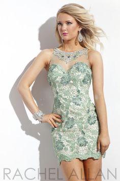 Rachel Allan 6759 Lace Homecoming Dress