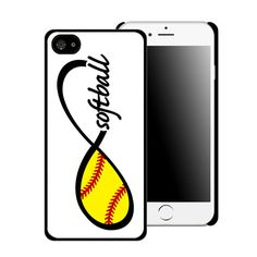 Infinity Softball Printed Cell Phone Case by CustomDecalz on Etsy