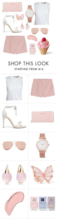 """""""Pink """" by emma-rouget ❤ liked on Polyvore featuring Canvas by Lands' End, Valentino, Alexandre Birman, Michael Kors, Betsey Johnson, Larsson & Jennings, Pomellato, Stephen Webster, NYX and Nails Inc."""