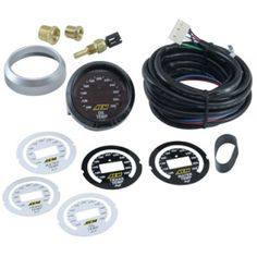 Features Gauge Readout from 100 to 300F Temperature gauge includes AEM brass sensor Ideal for carbureted or EFI vehicles Easy-to-install Plug & Play harness and sensor included 24 green LED display lights provide immediate reference to monitored engine function Each gauge comes with interchangeable black/silver bezels and black/white faceplates 0-5V analog output included for use with data loggers and virtually any engine management system Three-digit digital readout to exact degree…