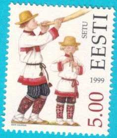 All* Estonian stamps: Estonian Folk Costumes. Setu area (South-East Estonia)